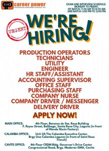 URGENT HIRING OF PRODUCTION OPERATORS | Career Power